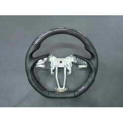Black Carbon Fiber Cut Steering Wheel