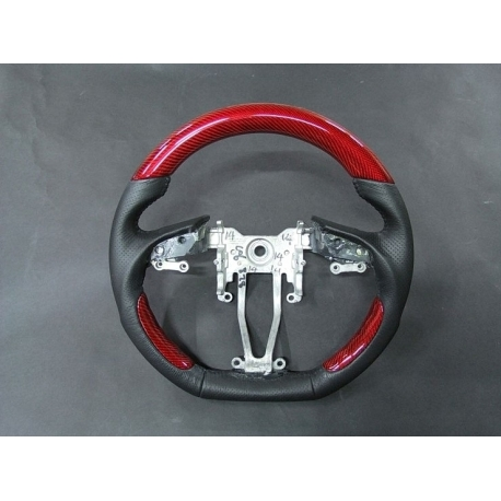 Red Carbon Fiber Cut Steering Wheel Genesis Coupe