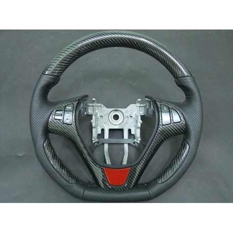 CF Cut Steering Wheel with Red Insert