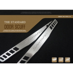 Black/Silver Alu Door Scuffs DM