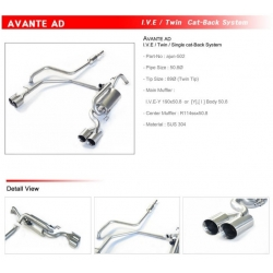 Ajun IVE Variable AD Catback Exhaust