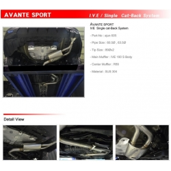 Ajun Single Sports Catback Exhaust