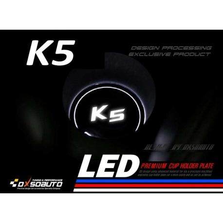 Dxsoauto Cup Holder LED Plates