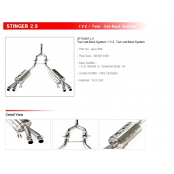 Ajun 2.0T Dual Variable Exhaust System