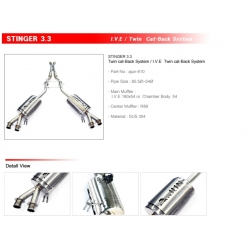 Ajun 3.3T Dual Variable Exhaust System