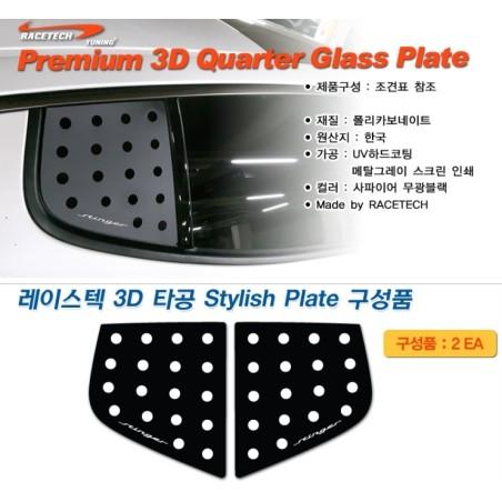 Racetech 3D Quarter Glass Plates