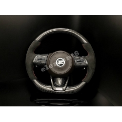 3.3 GT Carbon Fiber/Alcantara D-Cut Steering Wheel