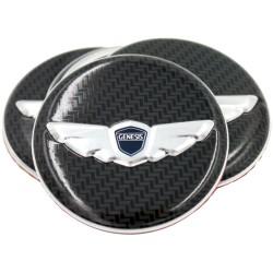 Loden 3D/Carbon Wing Wheel Cap Emblems