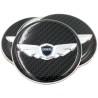 Loden 3D Carbon Wing Wheel Cap Emblems