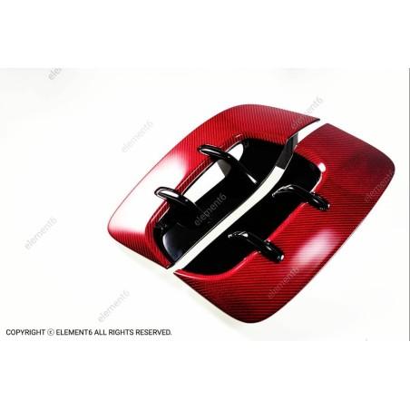 Element6 Red Carbon Fiber Fender Vents