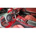 Element6 Red Carbon Fiber Center Console + Cup Holder