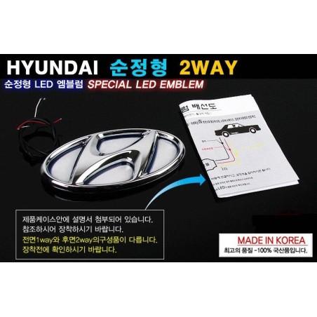 Hyundai Led badge
